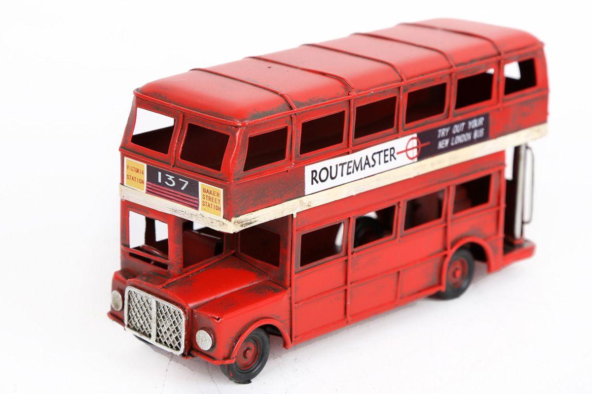 Objet deco londonbus rouge