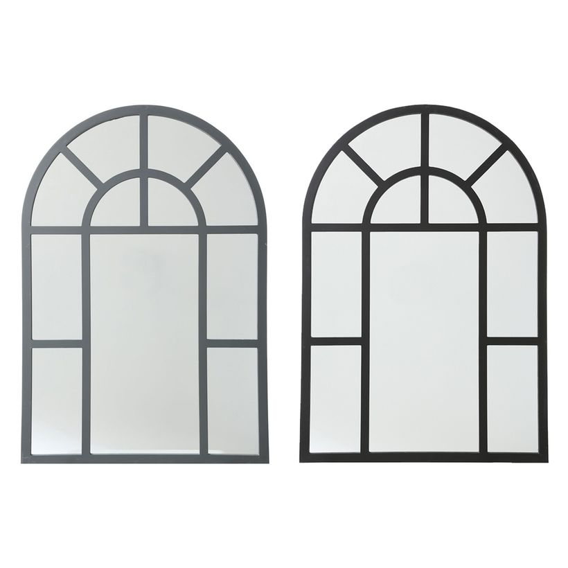 Miroir atelier fenêtre noir ou gris