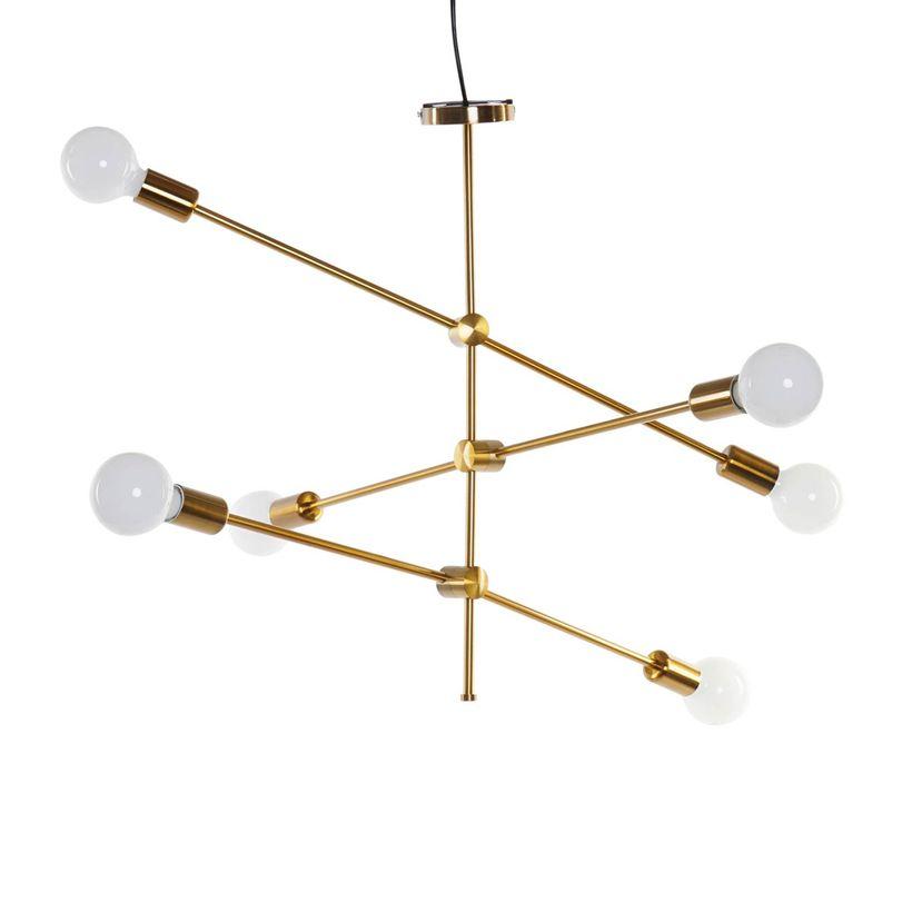 Suspension satellite dorée 6 ampoules