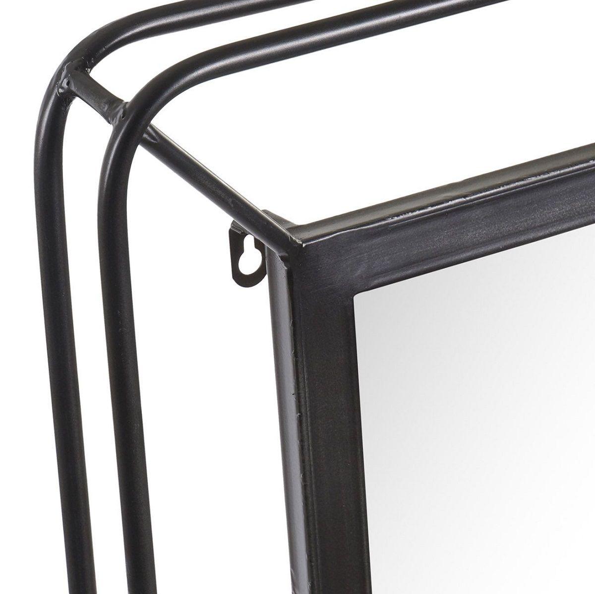 Miroir atelier noir encadrement métal