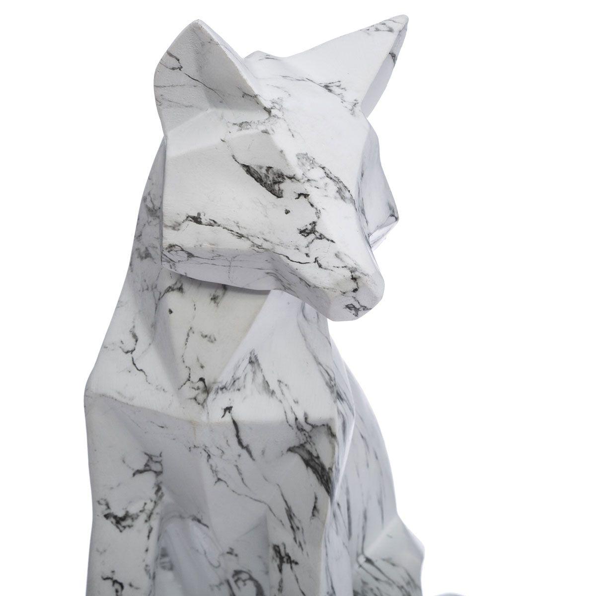 Renard déco origami effet marbre