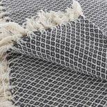 Plaid fouta à losanges noir 130x170 cm