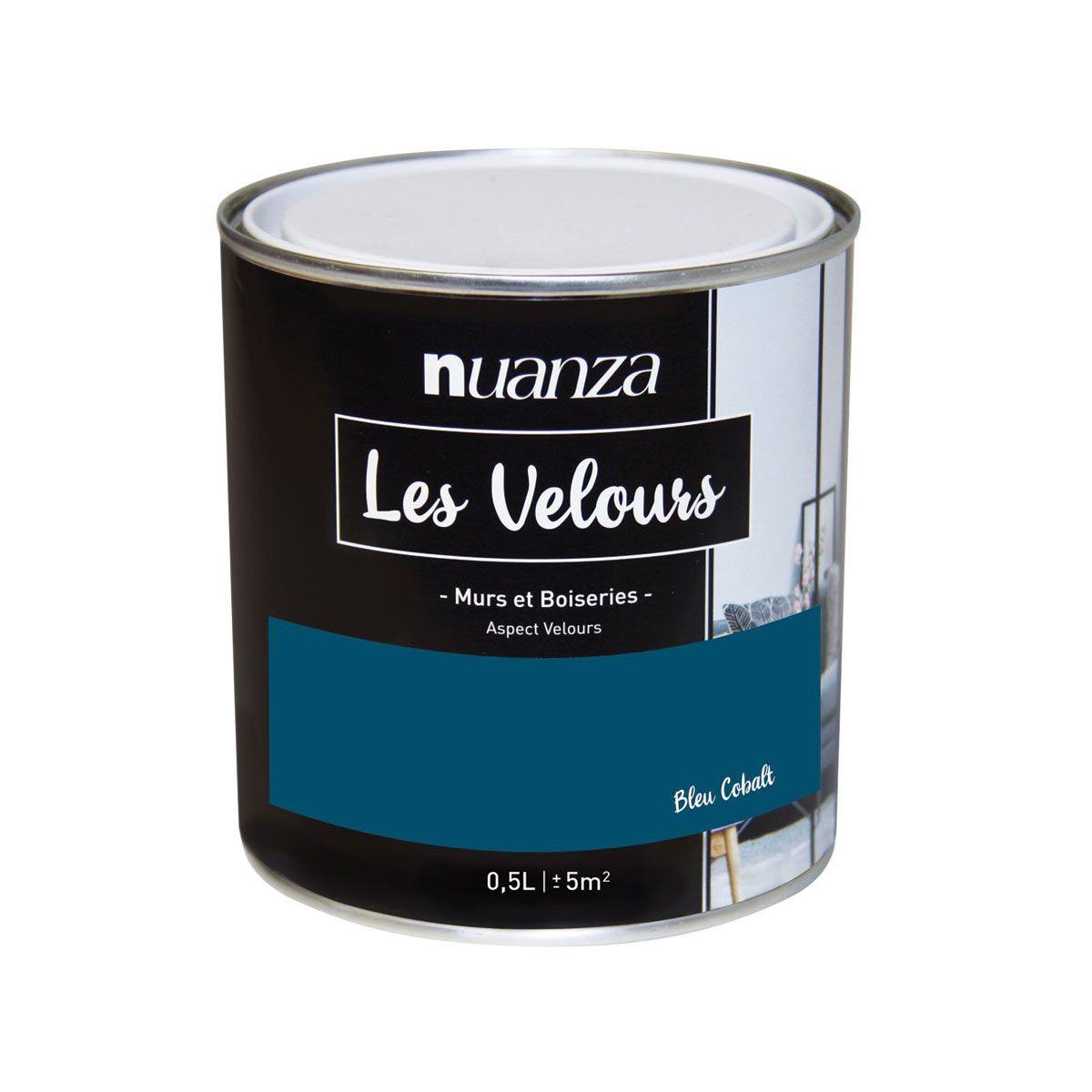 Peinture bleu cobalt velours multi supports Nuanza