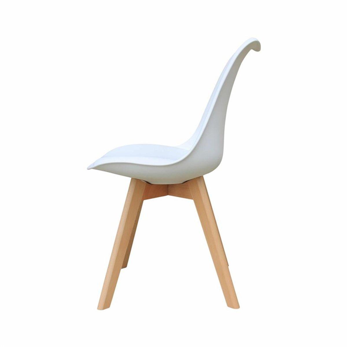 Chaise scandinave blanche Alba