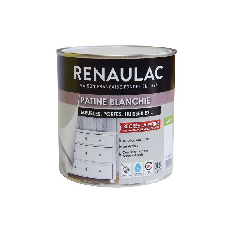 Peinture patine blanchi Renaulac 0.5l