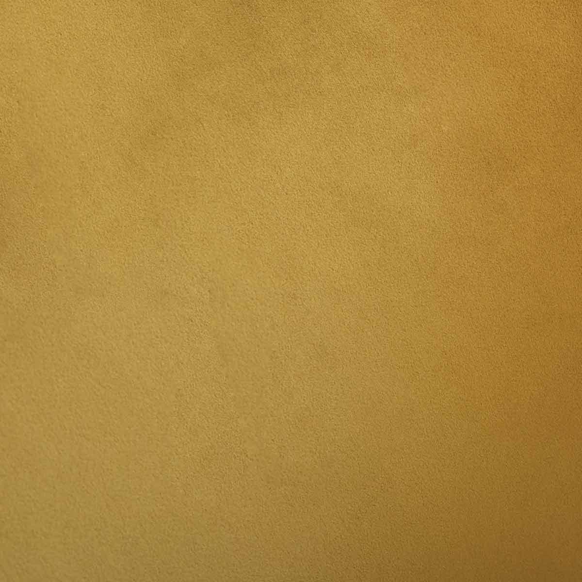Fauteuil de table en velours jaune Siron