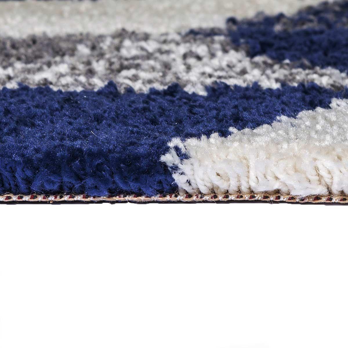 Tapis triangles bleu marine Makalu 120x170 cm