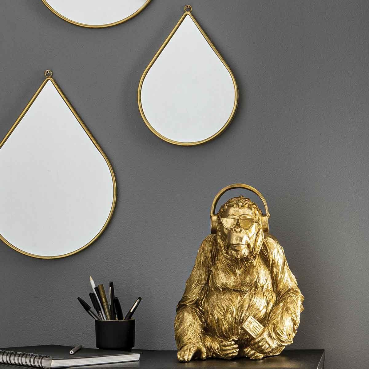 Miroir goutte doré petit modèle