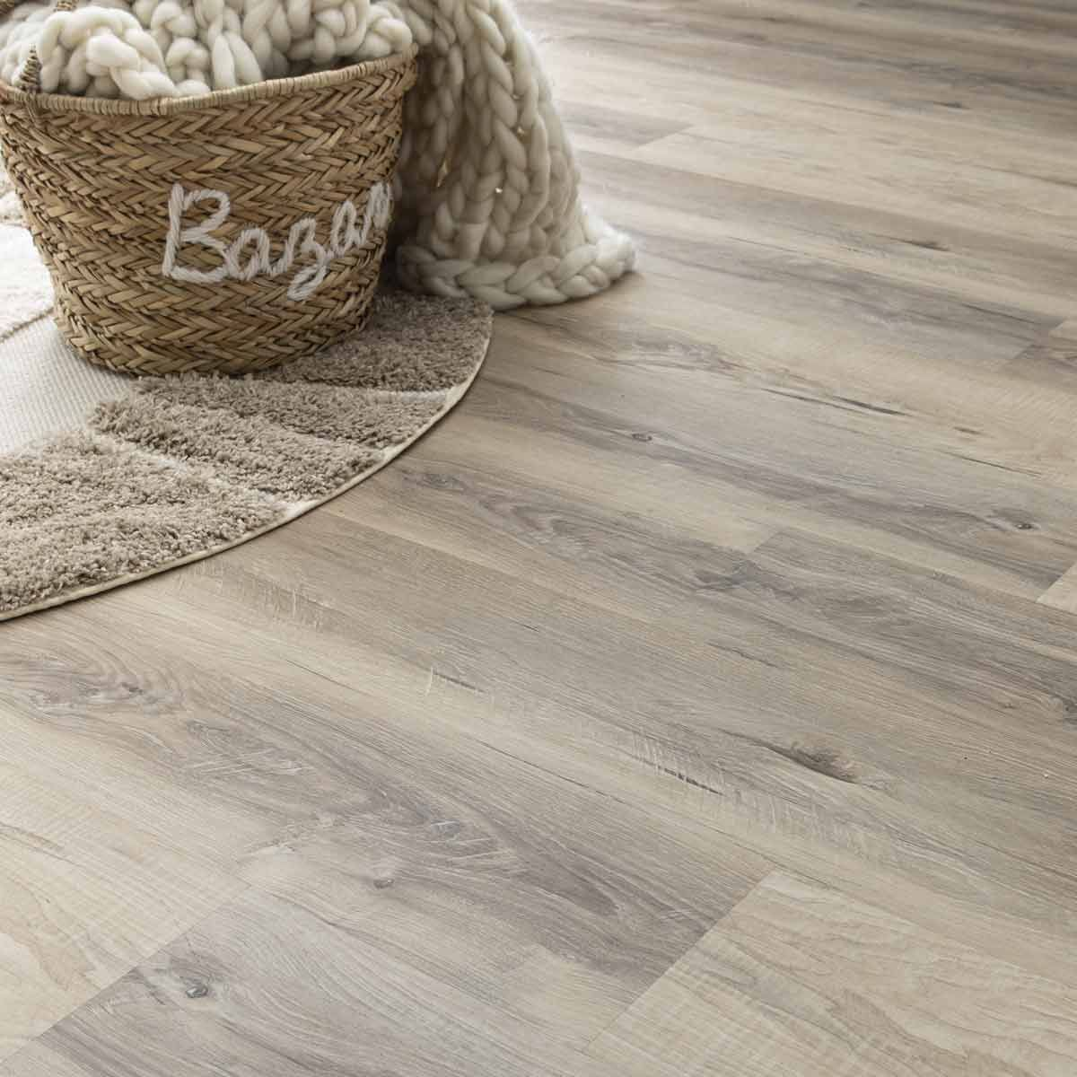 Lame PVC clipsable bois beige grisé 5,5mm Cortina