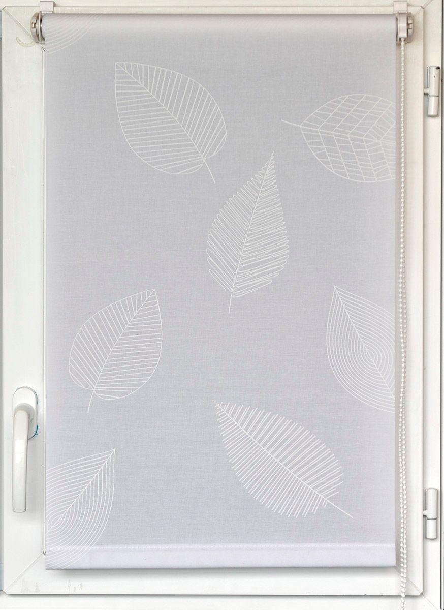 Store enrouleur Elva feuille blanche 45x180cm