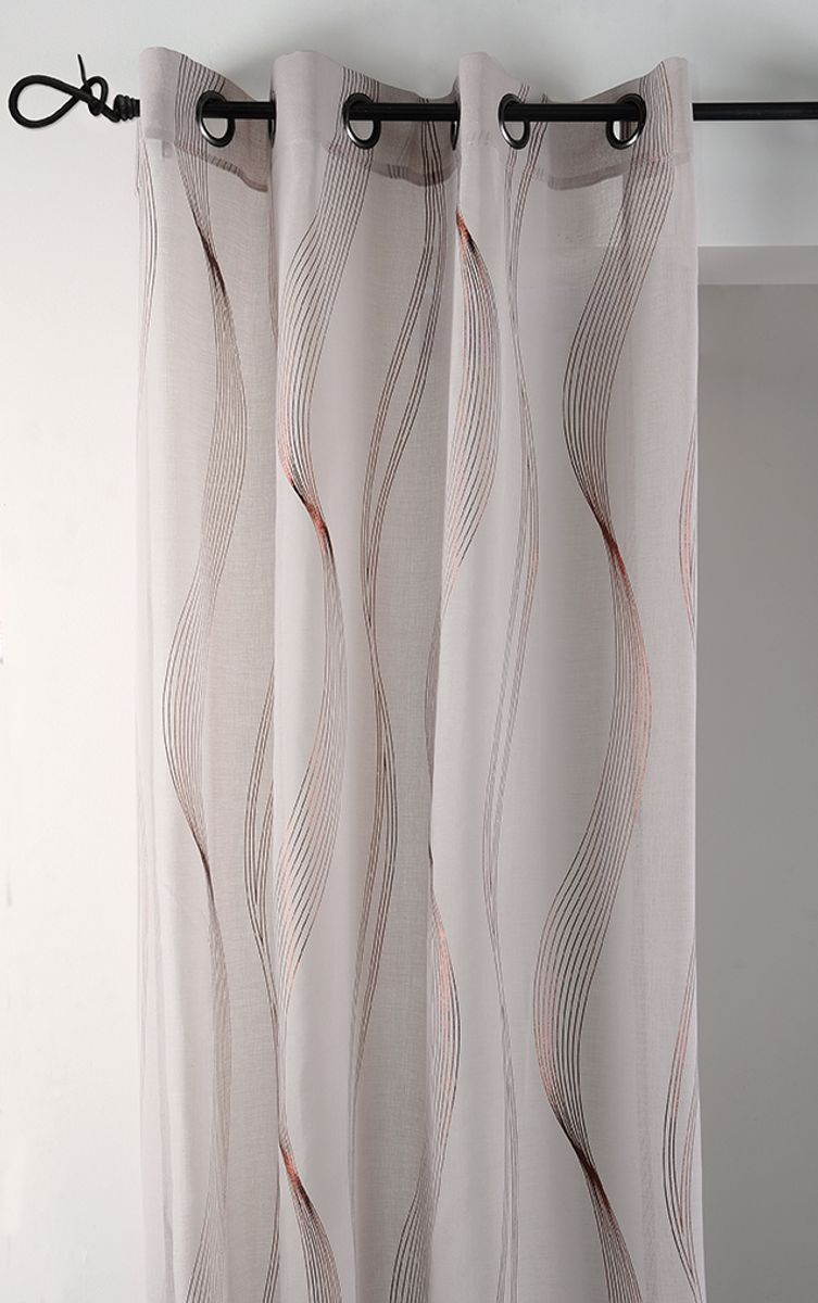 Rideau lin bronze Alata 135x240 cm