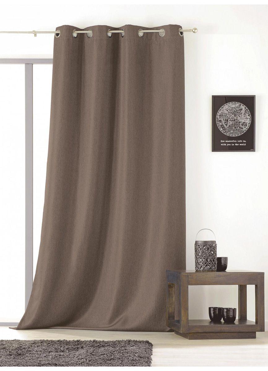 Rideau faux uni taupe Rioja 145x240 cm