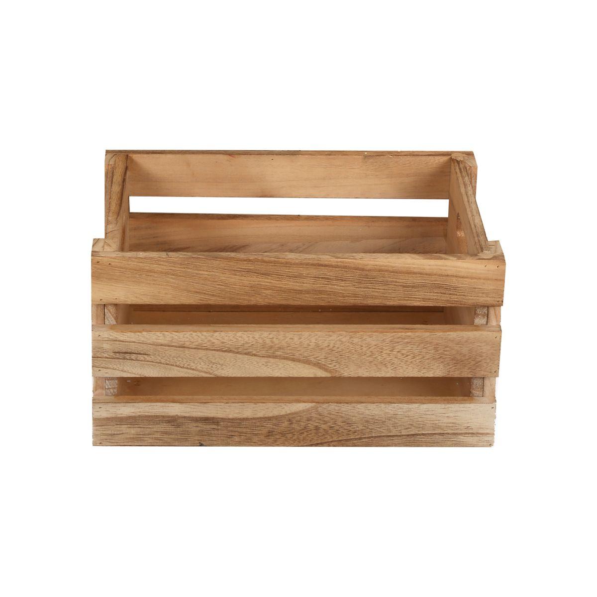 Cagette en bois de paulownia S