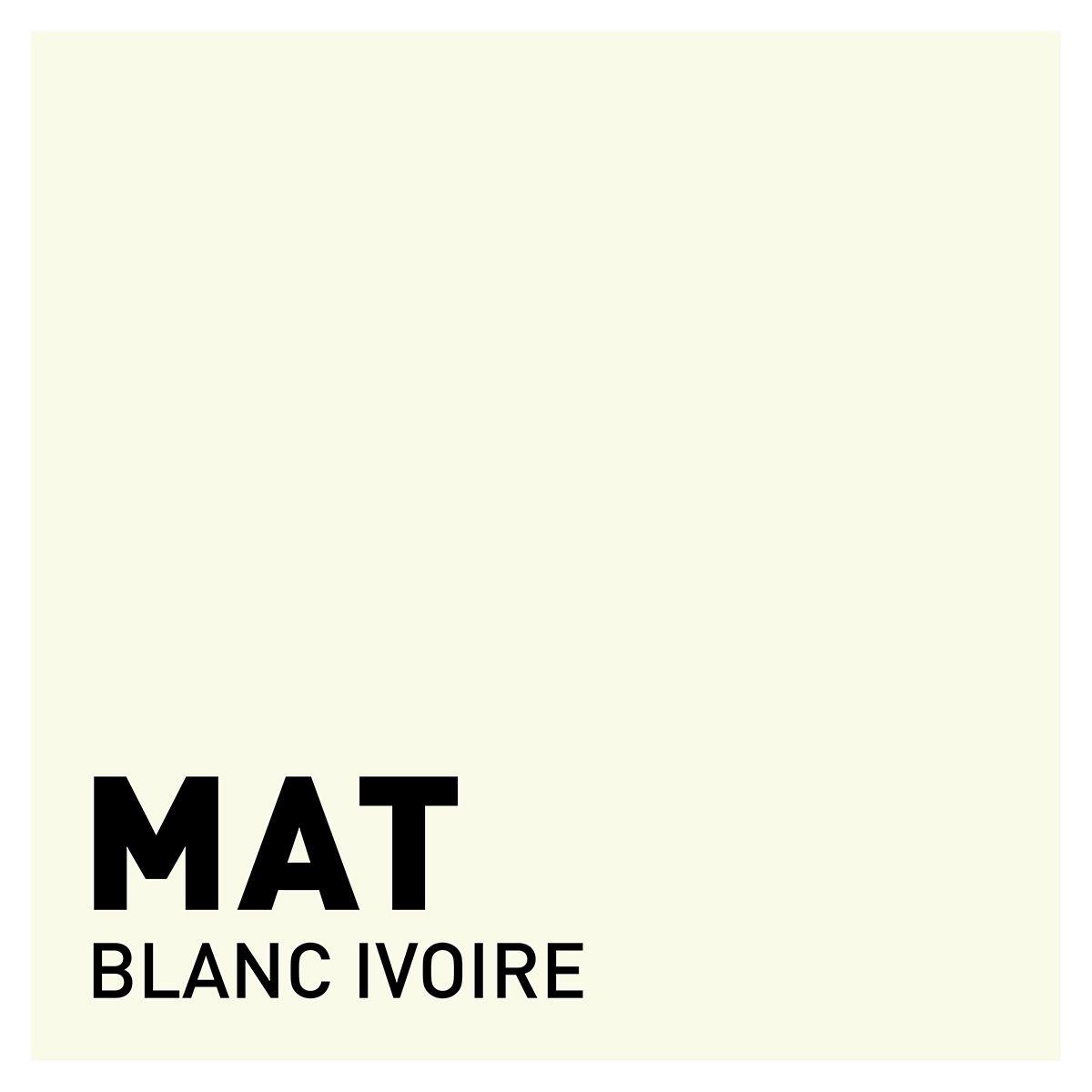 Peinture blanc ivoire mat 20 minutes chrono Renaulac