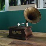 Gramophone décoratif en métal
