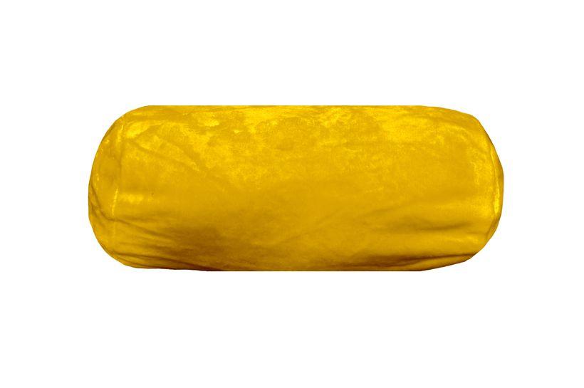 Polochon polaire jaune moutarde Pila 20x45 cm