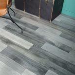 Sol PVC lame gris titane et alu Aboca 400cm