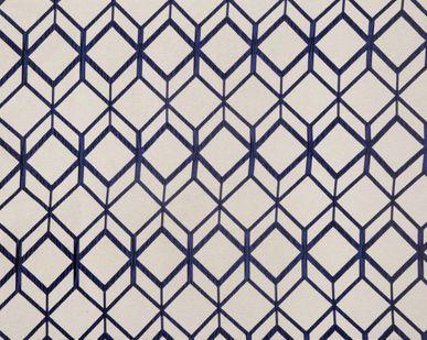 rideau g om trique bleu marine chota 135x250 cm kalico. Black Bedroom Furniture Sets. Home Design Ideas