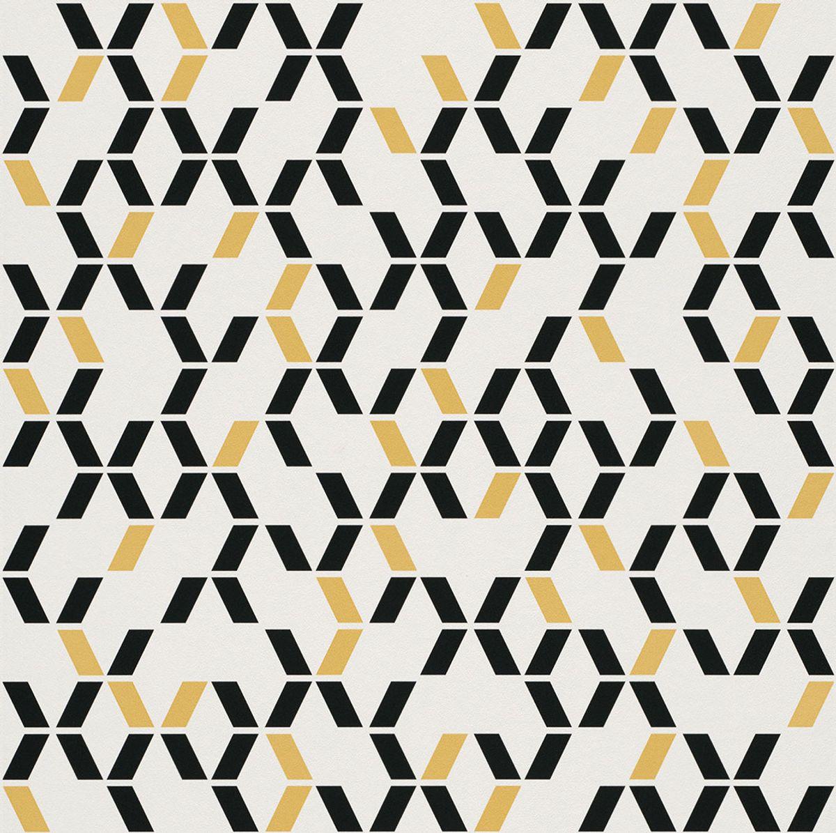 Papier peint duplex papier Bweeng moutarde 53cmx10.05m