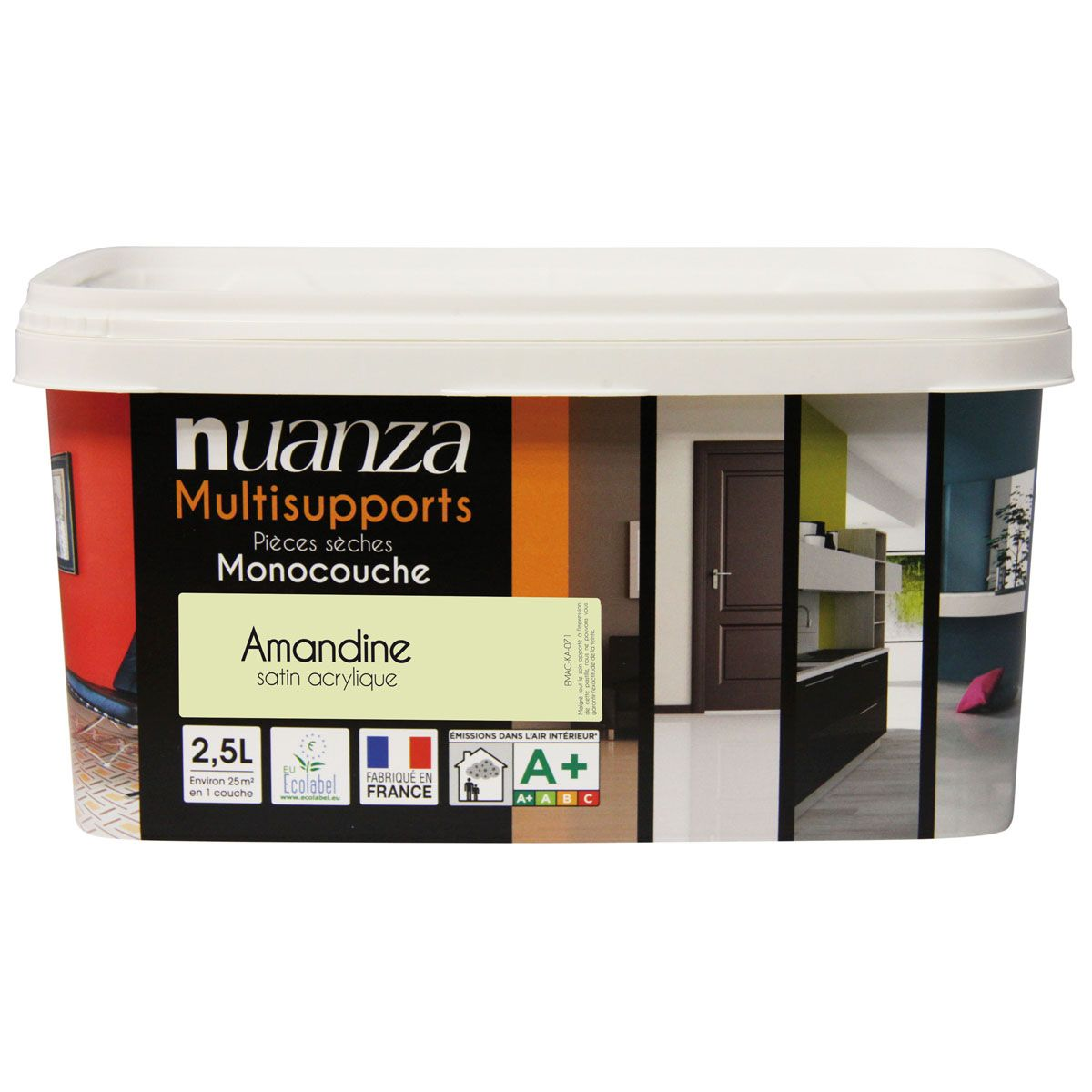 Peinture amandine satin multisupports Nuanza 2.5l