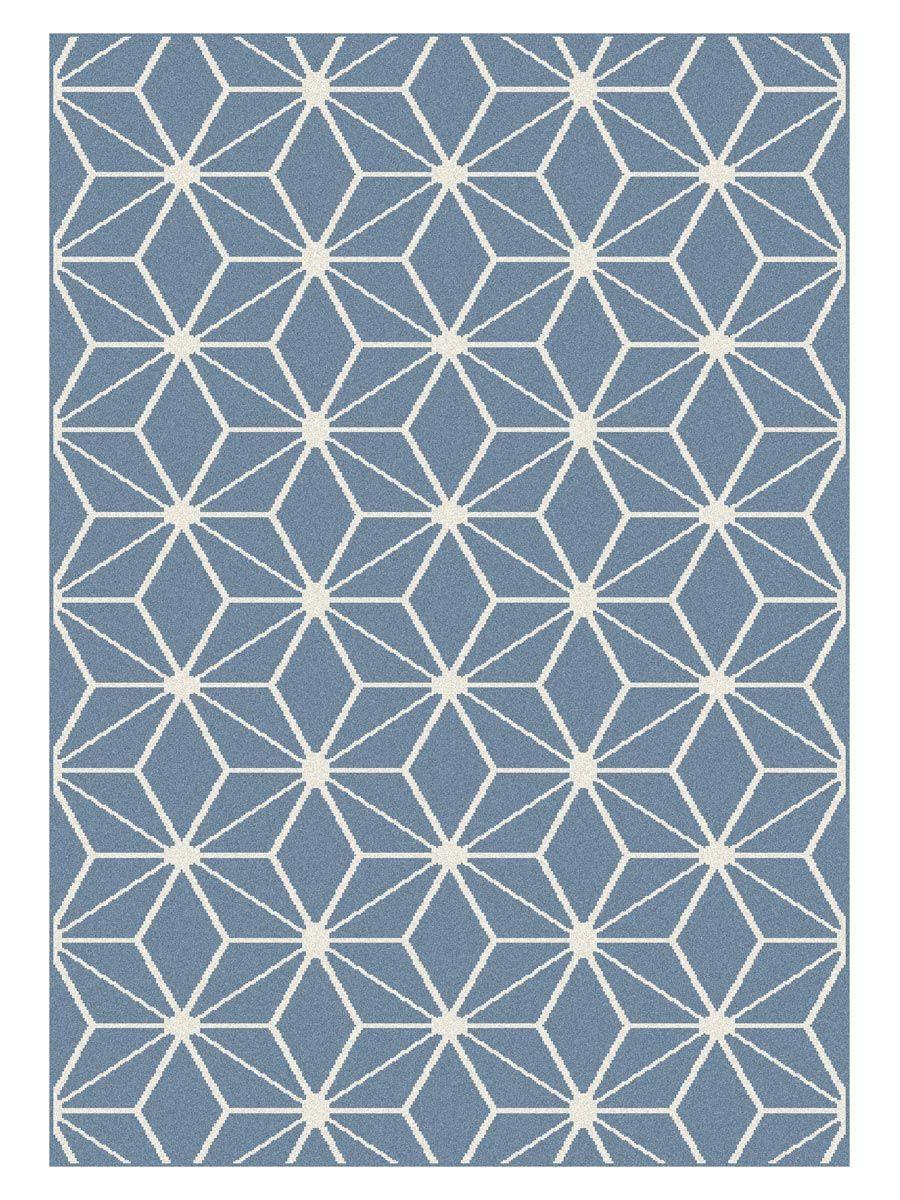 Tapis Maoke cubic bleu 120x170cm
