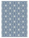Tapis moderne cubic bleu Maoke 120x170 cm