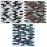 Sticker carrelage 2 plaques multi