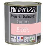 Peinture dragée satin murs et boiseries Nuanza 0.5l