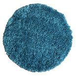 Tapis rond shaggy bleu canard Softy 60 cm