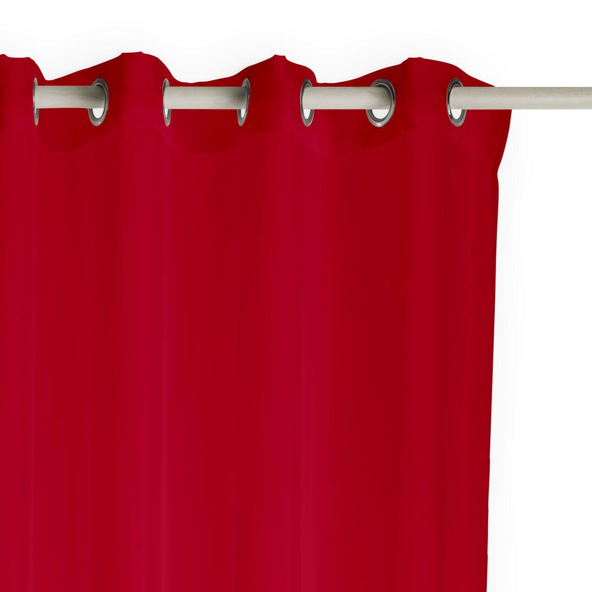 Rideau occultant rouge vif Soledad 140x260 cm