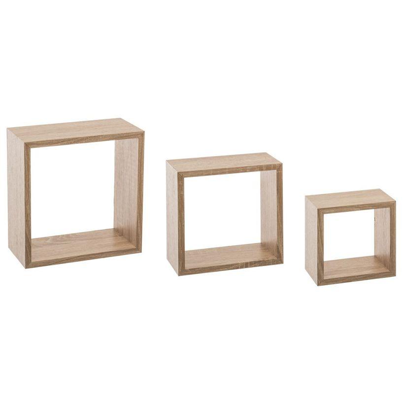 Etagère cubes x3 naturel