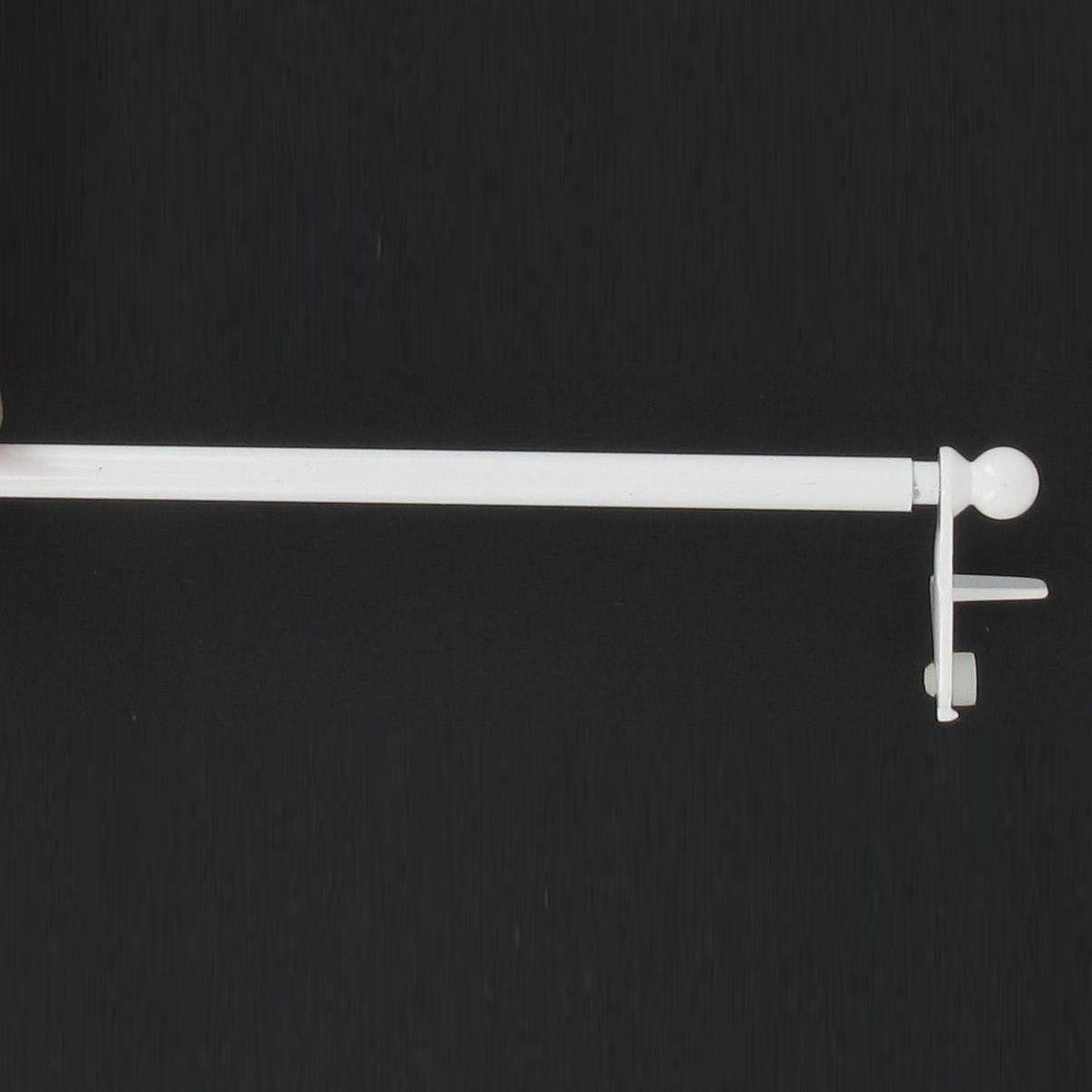 Tringle sans percer blanc 120cm