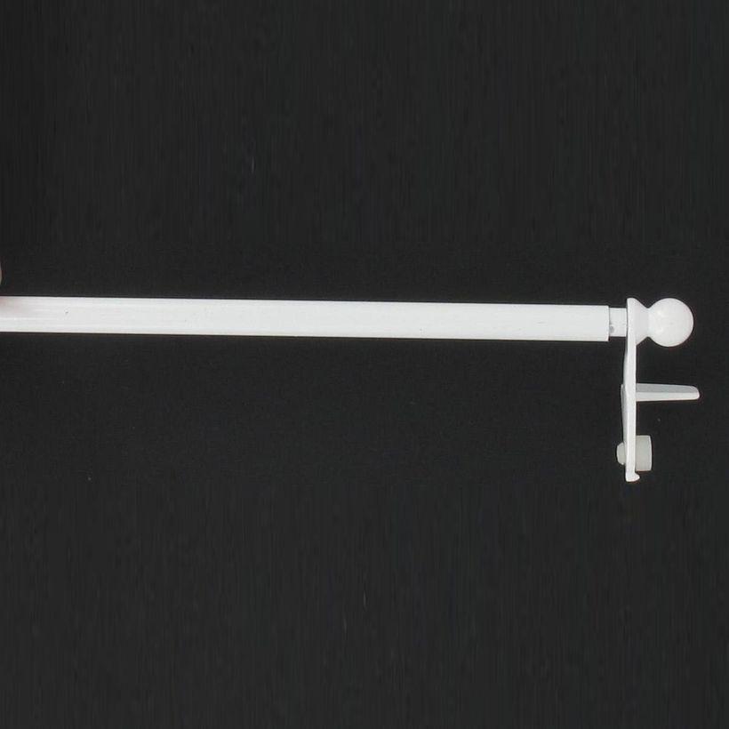 Barre de vitrage ext. sans percer blanc 80/120 cm