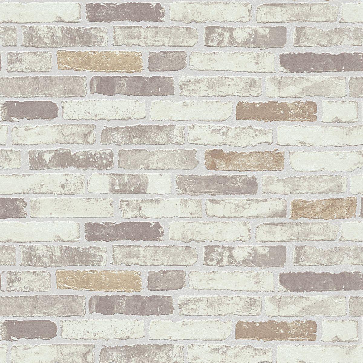 Papier peint vinyl intissé brique craie Bricktop
