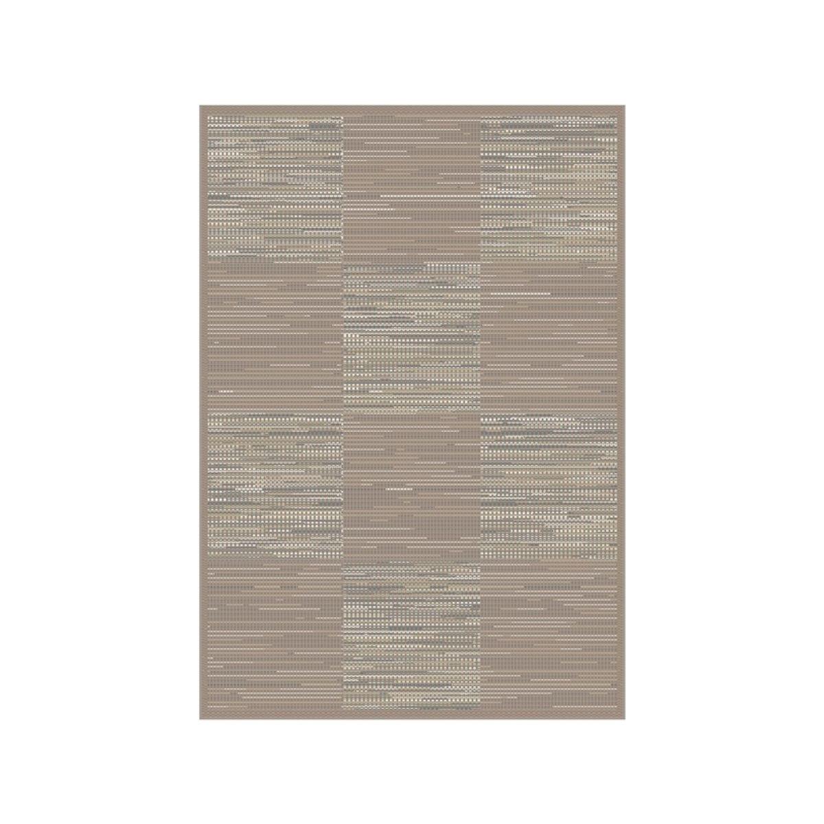 Tapis motif damier beige Mont Blanc 120x170 cm