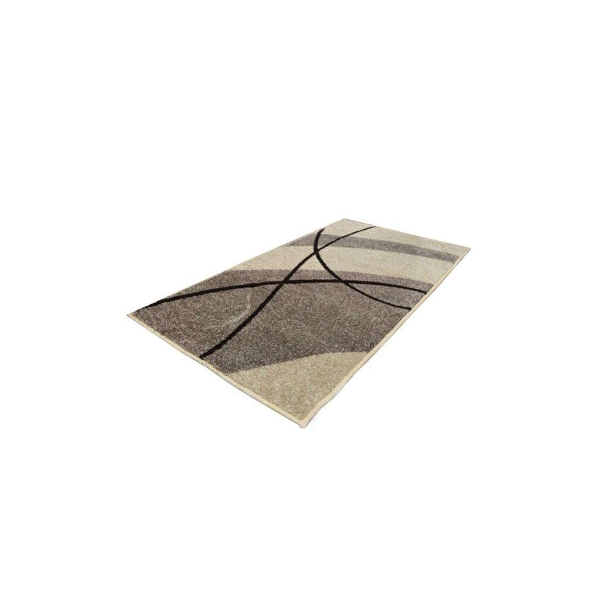 Tapis moderne vague grise Maoke 60x110 cm
