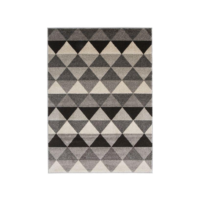 Tapis scandinave gris beige Maoke 120x170 cm