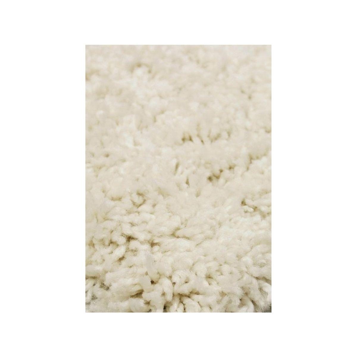 Tapis shaggy blanc craie Softy 50x80 cm