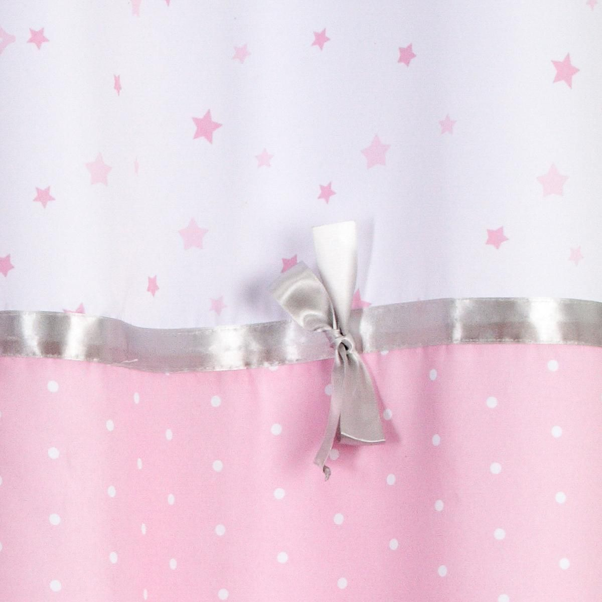 Rideau enfant rose Princess Ruban 140x260 cm