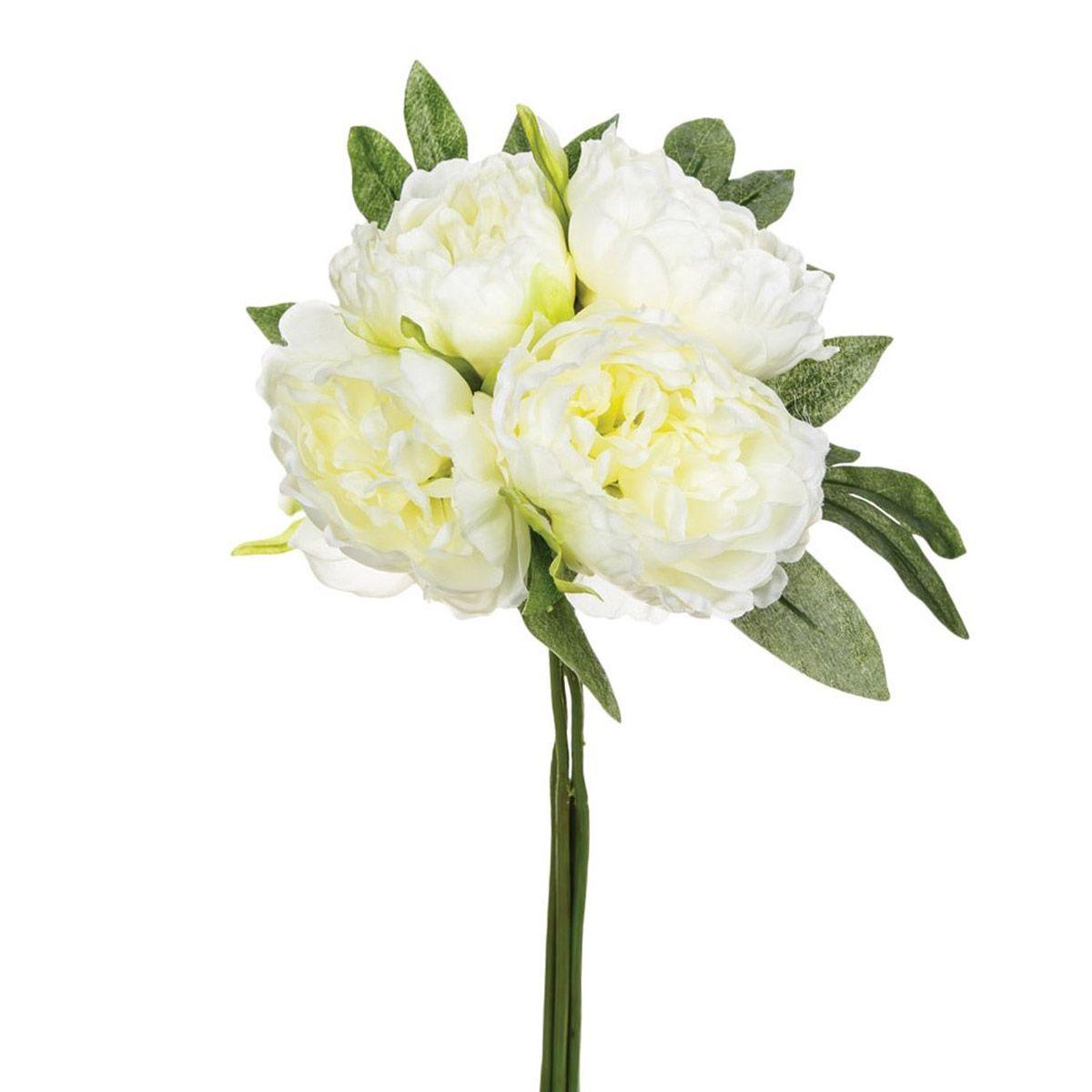 Bouquet de pivoines blanches artificielles
