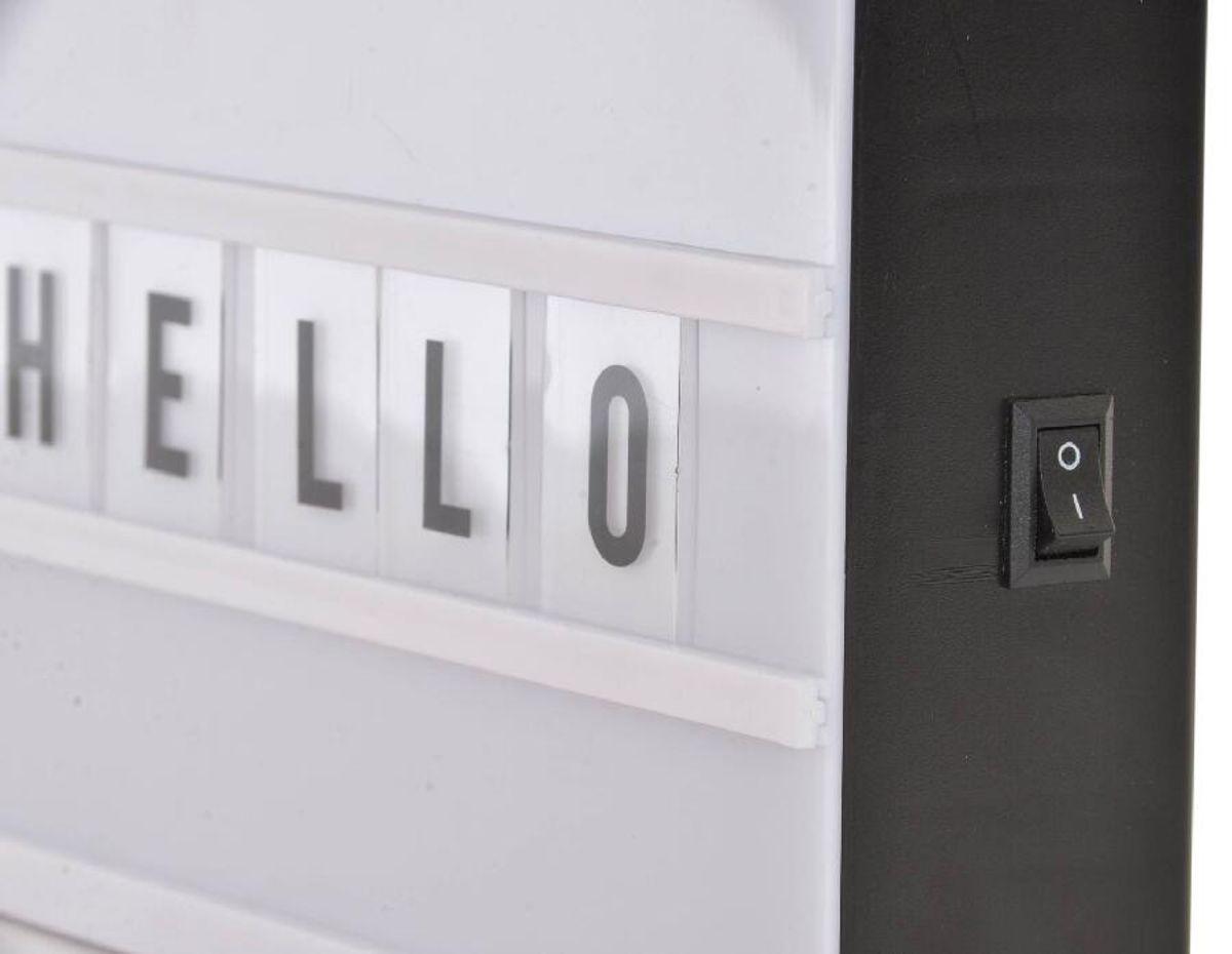 Décoration lumineuse LED boîte 65 lettres