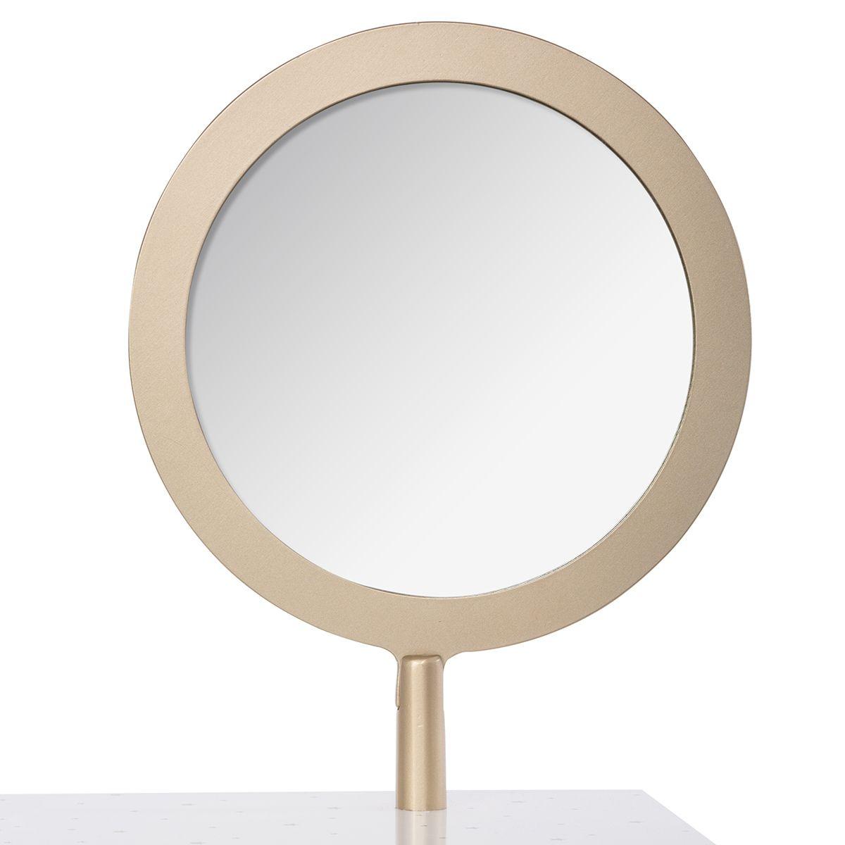 Coiffeuse miroir enfant blanc bois doré