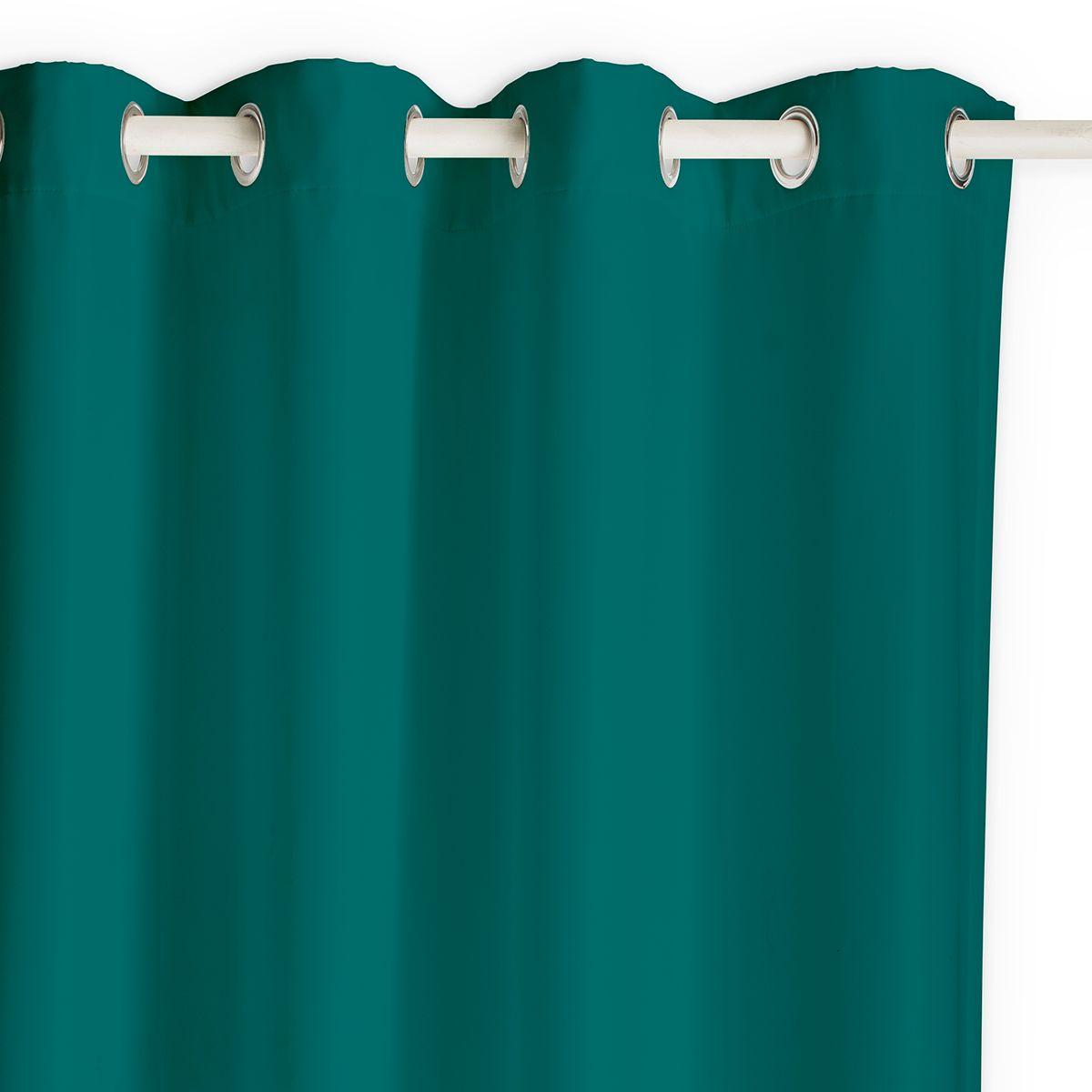 Rideau occultant et isolant vert sapin Buga 140x240cm