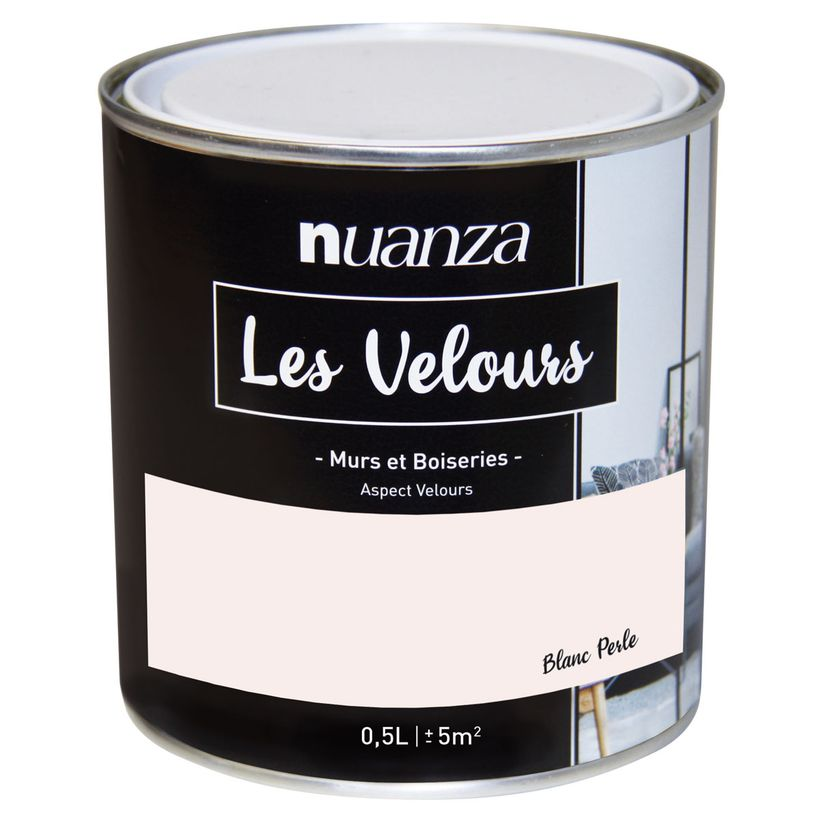 Peinture velours monocouche Blanc Perle 0.5l