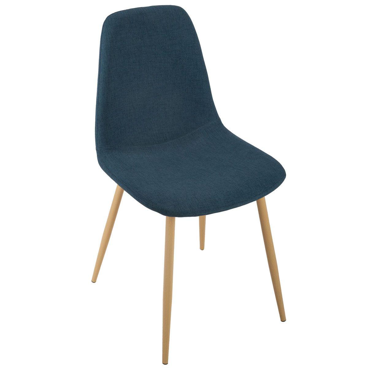 Chaise bleue scandinave Roka