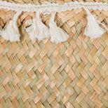 Panier thailandais à pompons blanc