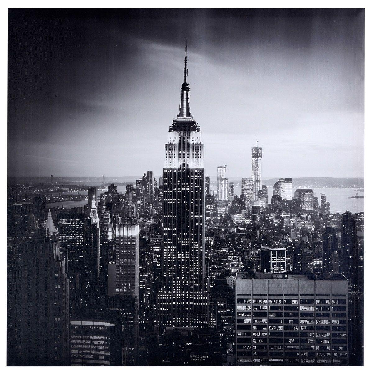 Toile imprimee new york noir
