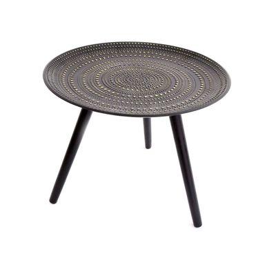 Table d´appoint noire avec relief doré | Déco | KALICO